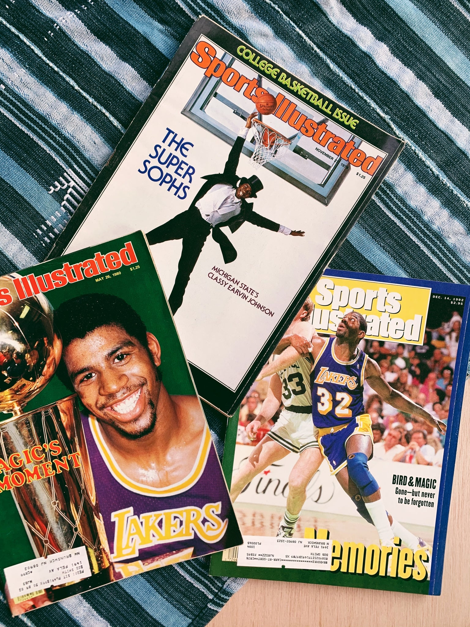 "Vintage Sports Illustrated Magazine Issues // Assorted ""Magic"" Earvin Johnson Covers (Please Select)"
