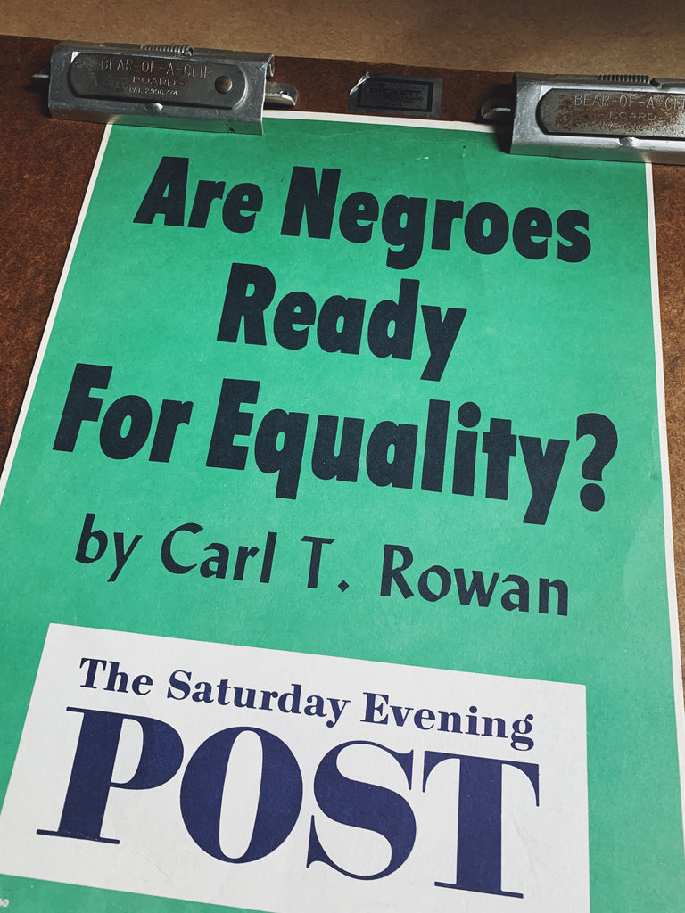 "Vintage ""Are Negroes Ready For Equality"" Saturday Evening Post Poster (October 1960)"