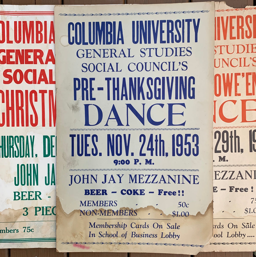 Vintage 1950's Columbia University Poster (Please select)
