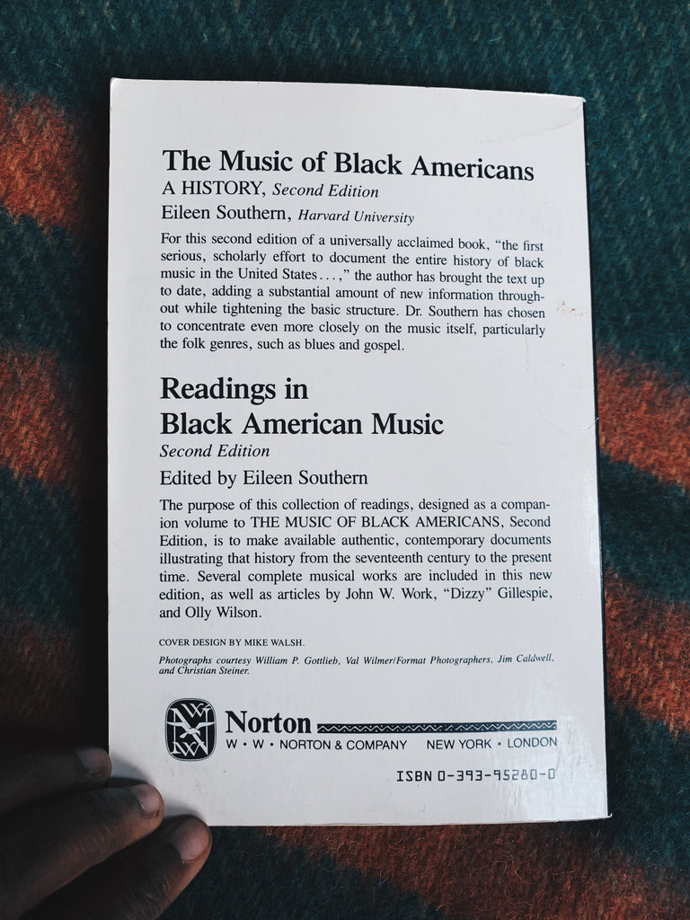 "Vintage Softcover ""Readings In Black American Music"" edited by Eileen Southern (1983)"