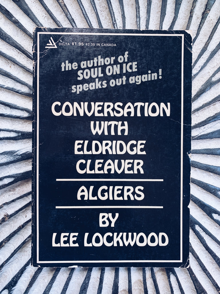 "Vintage Paperback ""Conversation with Eldridge Cleaver"" by Lee Lockwood (1970)"