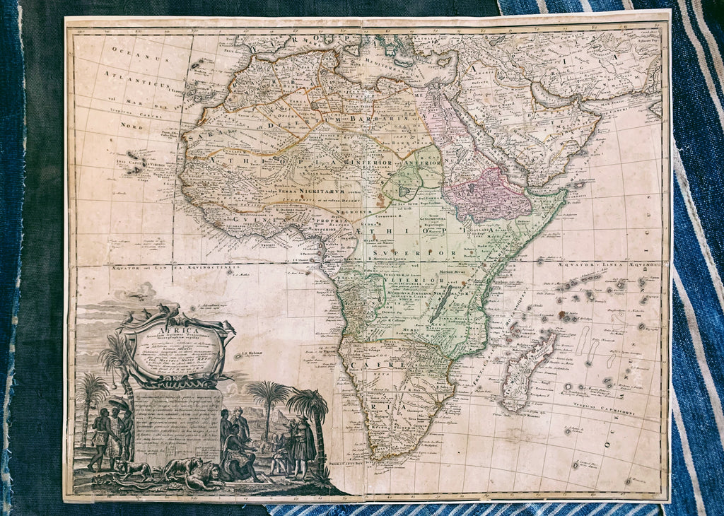 Antique Map of Africa (1737)