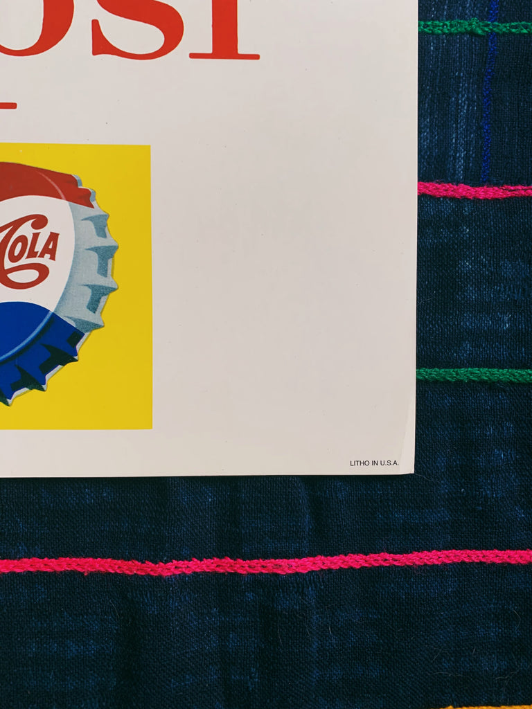 Vintage 1950's Trolley Car Pepsi Advertisement (Please Select)