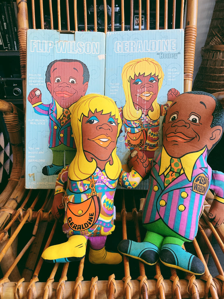 Vintage Flip Wilson Double-Sided Toy Doll by Shindana Toys (1970)