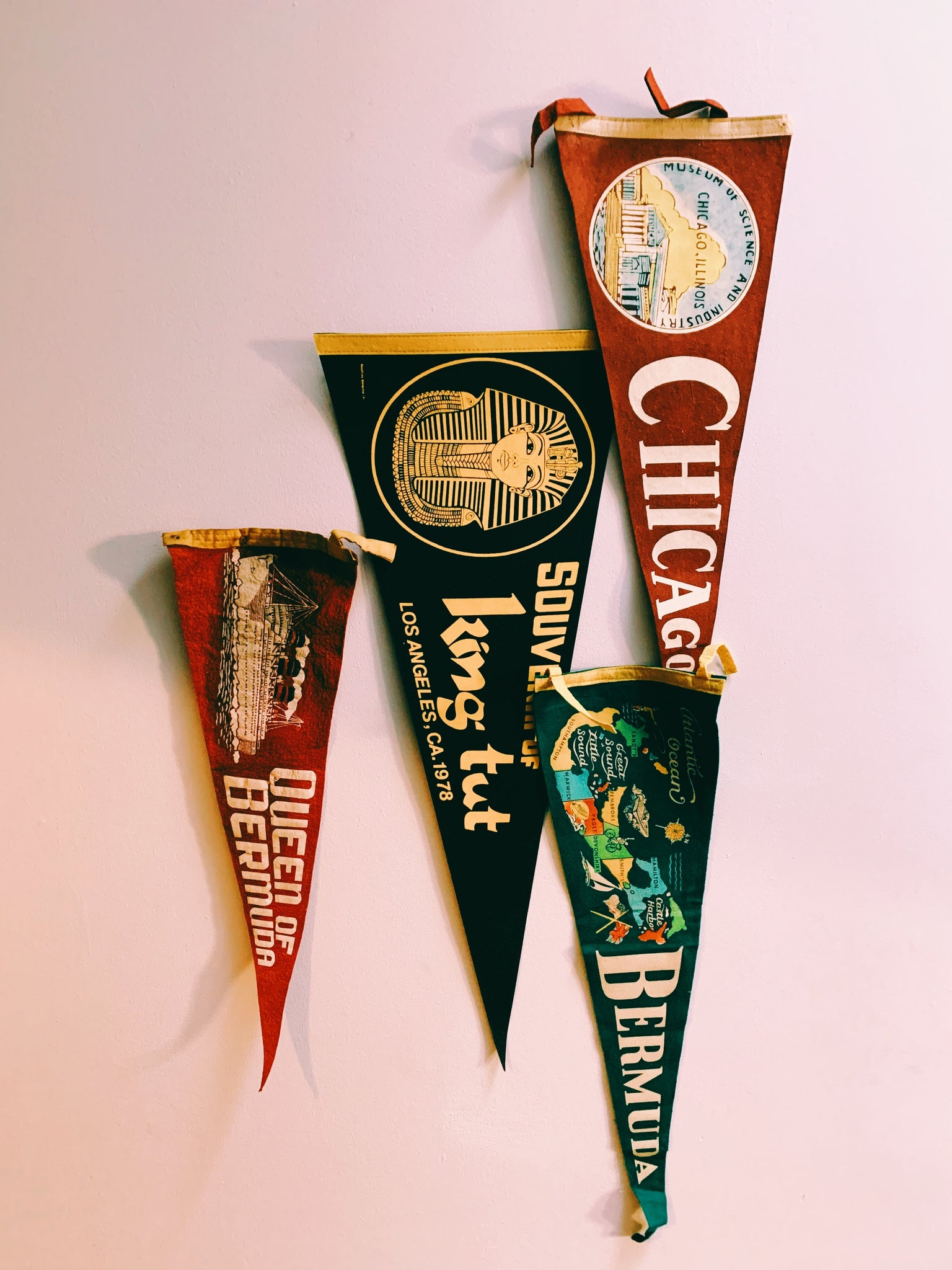 Vintage 1960's-1970's Travel Pennant (Please Select)