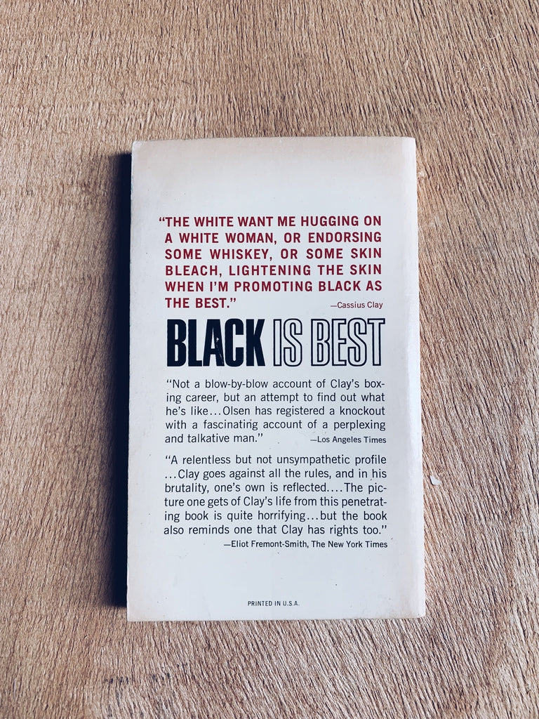 "Vintage Paperback ""Black Is Best: The Riddle of Cassius Clay"" by Jack Olsen"