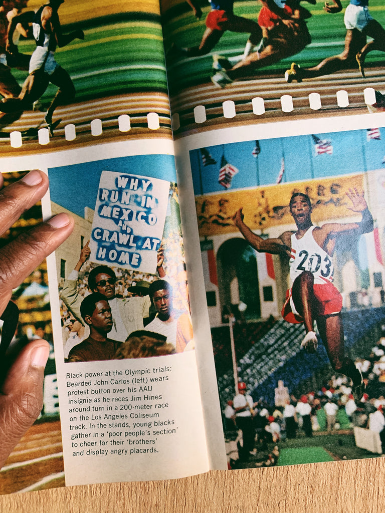 "Vintage Newsweek Magazine // Tommie Smith ""The Angry Black Athlete"" (July 1968)"