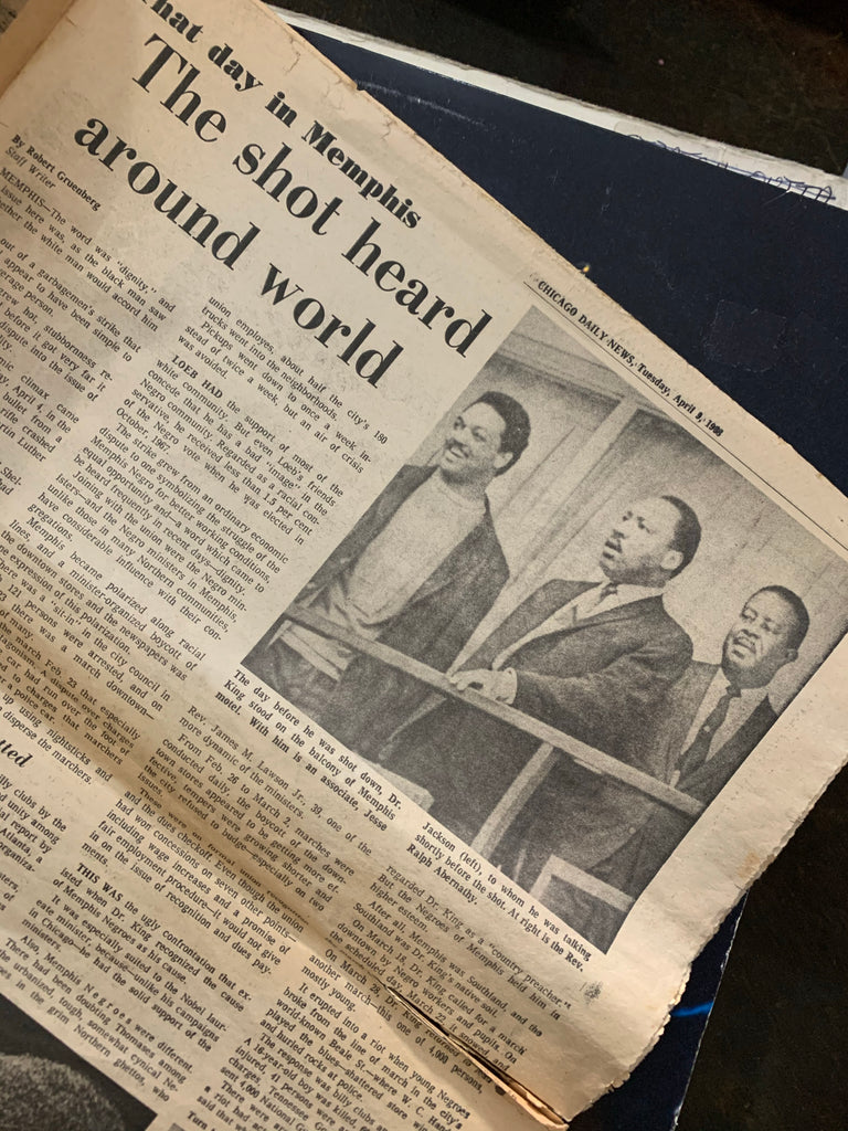 Vintage Chicago Daily News; Dr. King Assassination Special Issue (April 1968)