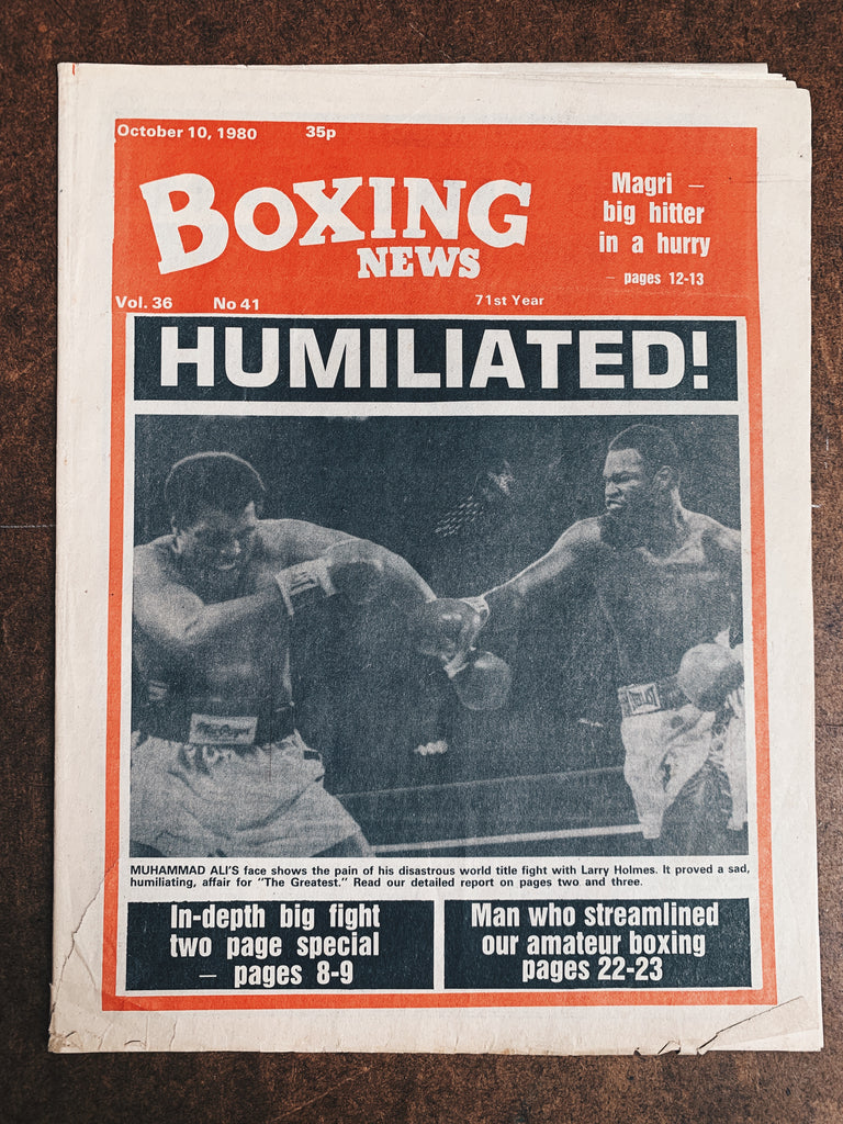 Vintage Boxing News Newspaper // Muhammad Ali & Larry Holmes (Oct 1980)