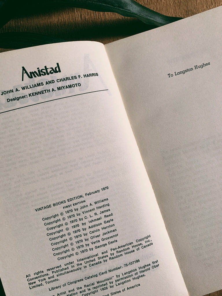 "Vintage Paperback ""Amistad: Writings on Black History and Culture"" (1970)"