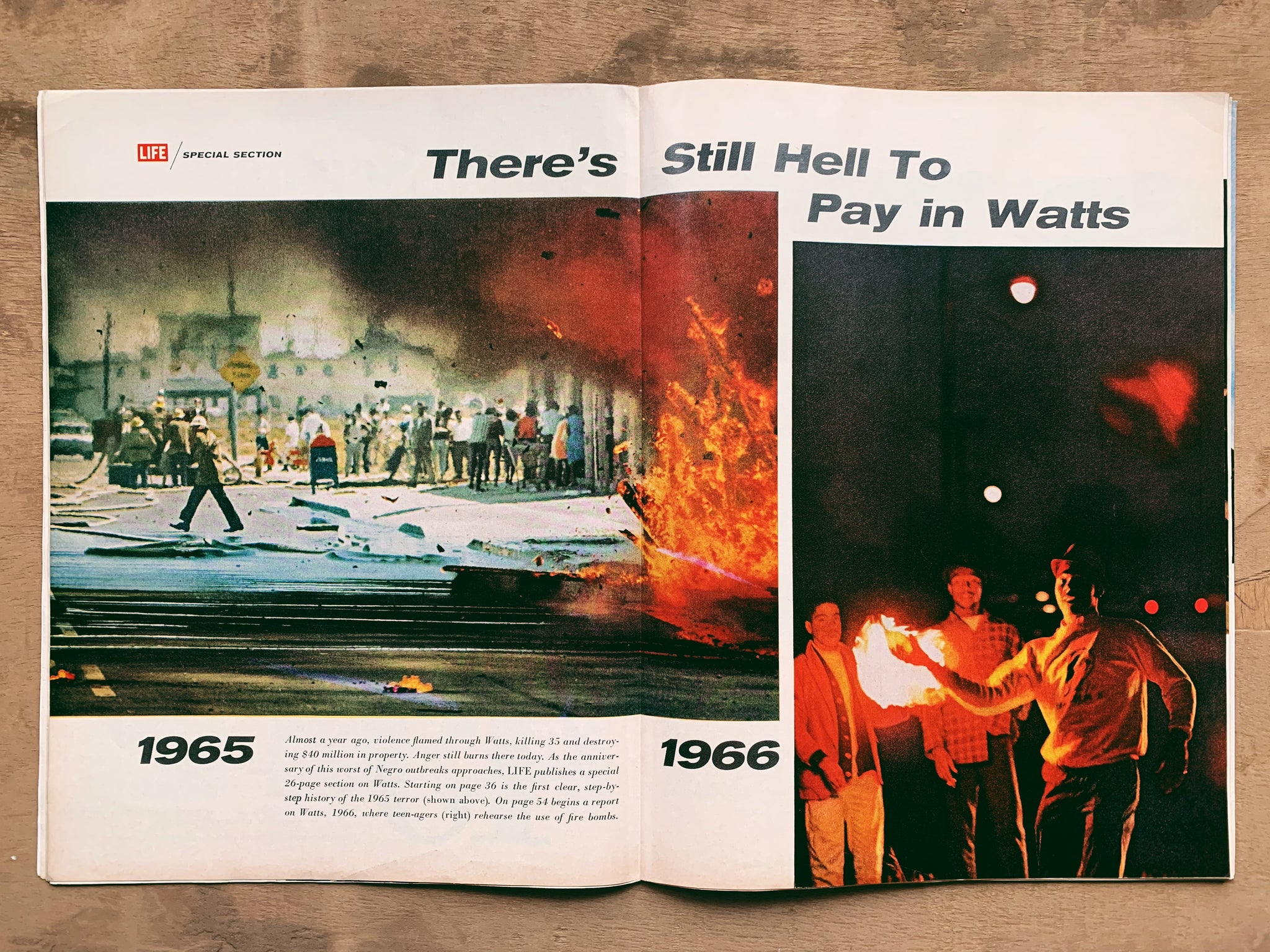 Vintage Life Magazine // Watts Riots & The Young Lions (July 1966)