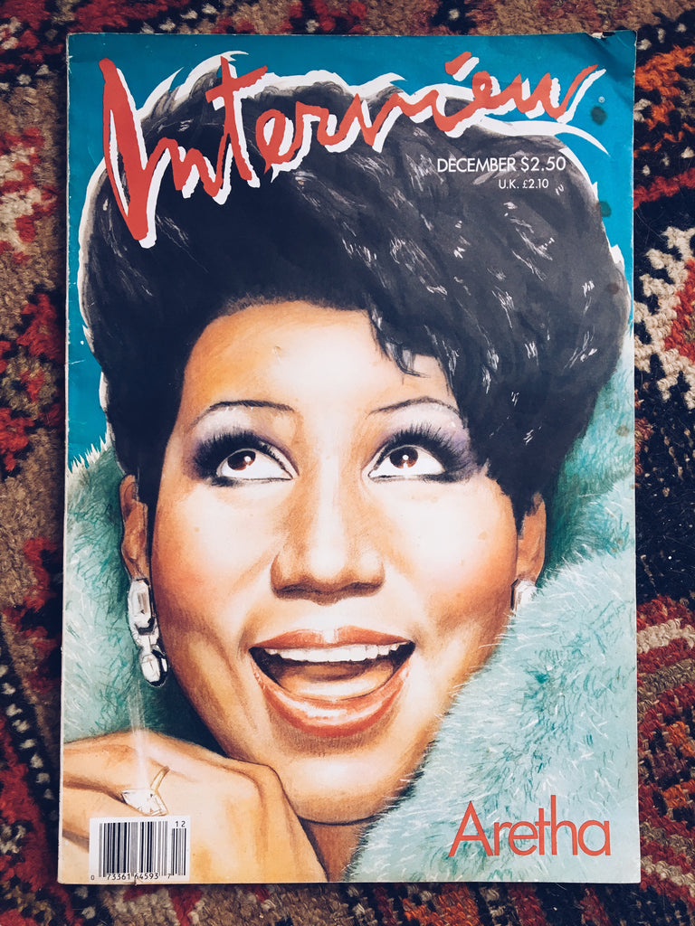 Rare Vintage 1986 Interview Magazine // Aretha Franklin Cover Story