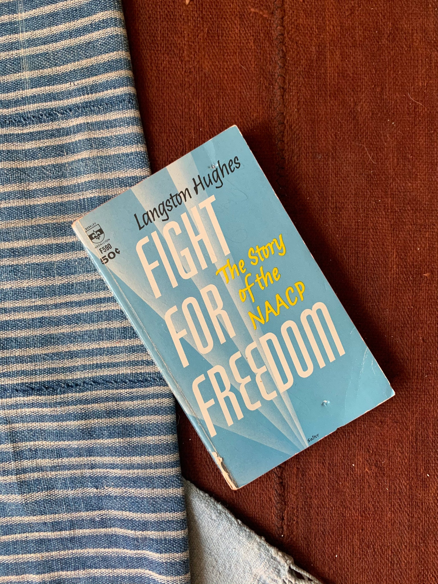 "Vintage SIGNED Softcover ""Fight For Freedom: The Story of The NAACP"" by Langston Hughes (1937)"