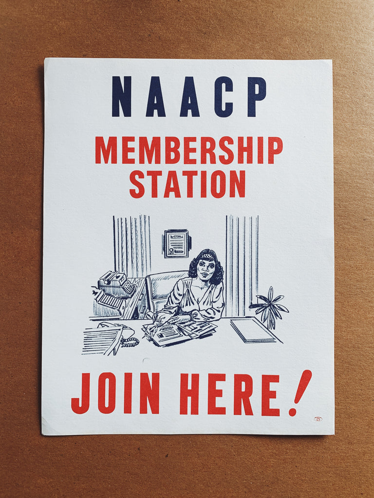 Vintage Rare NAACP Membership Station Poster (1960's-70's)