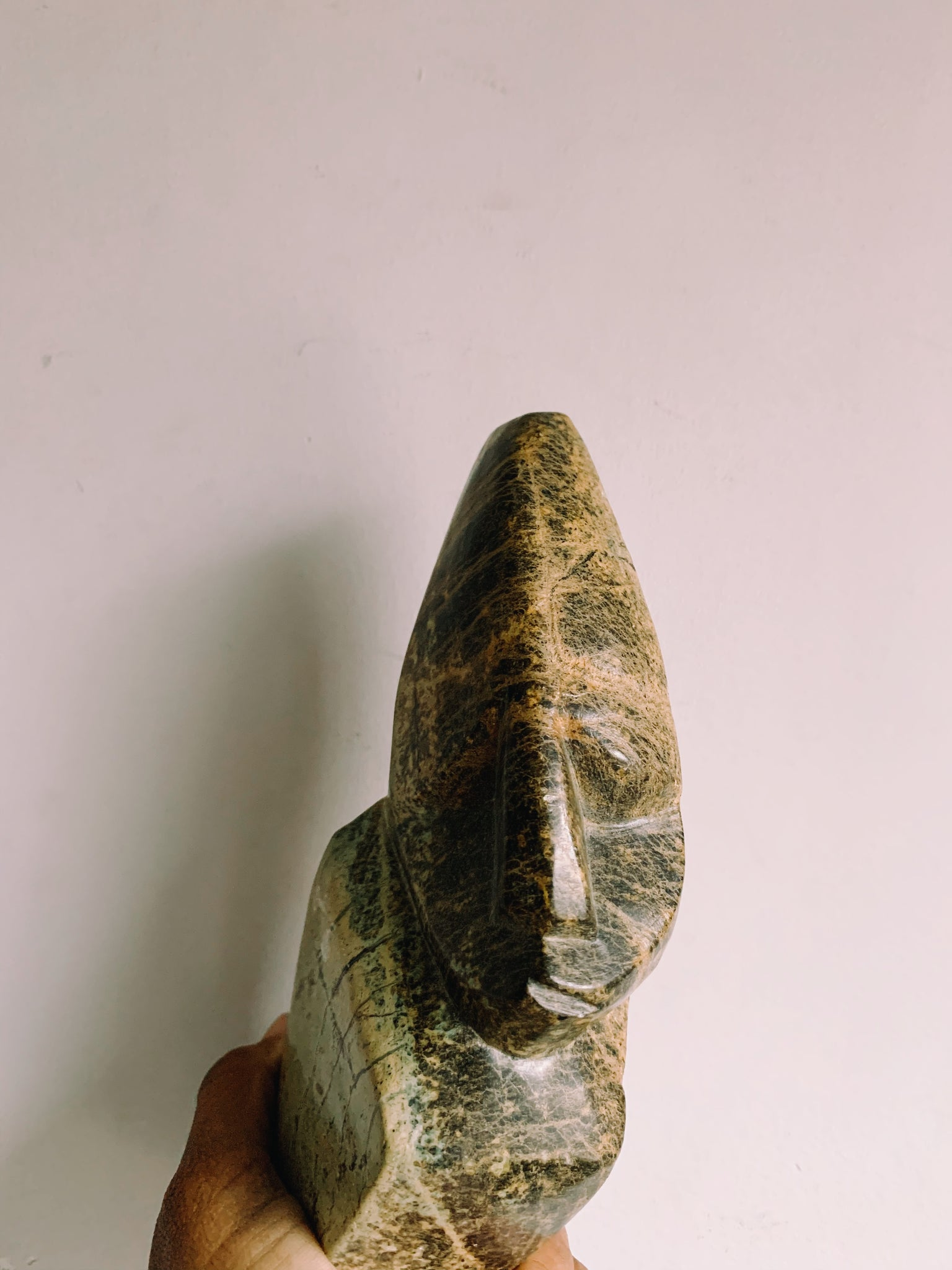 Vintage Small Carved Stoneware Sculpture