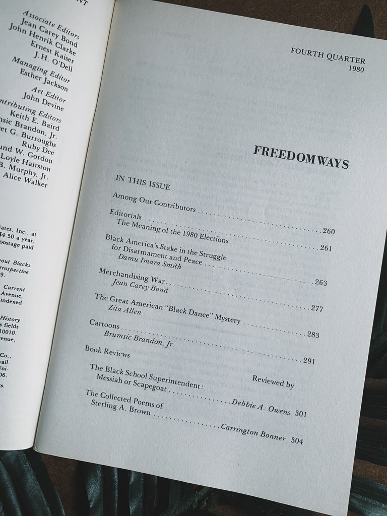 Vintage Freedomways Journal (From Personal Collection of Paul Robeson Jr.), 1980