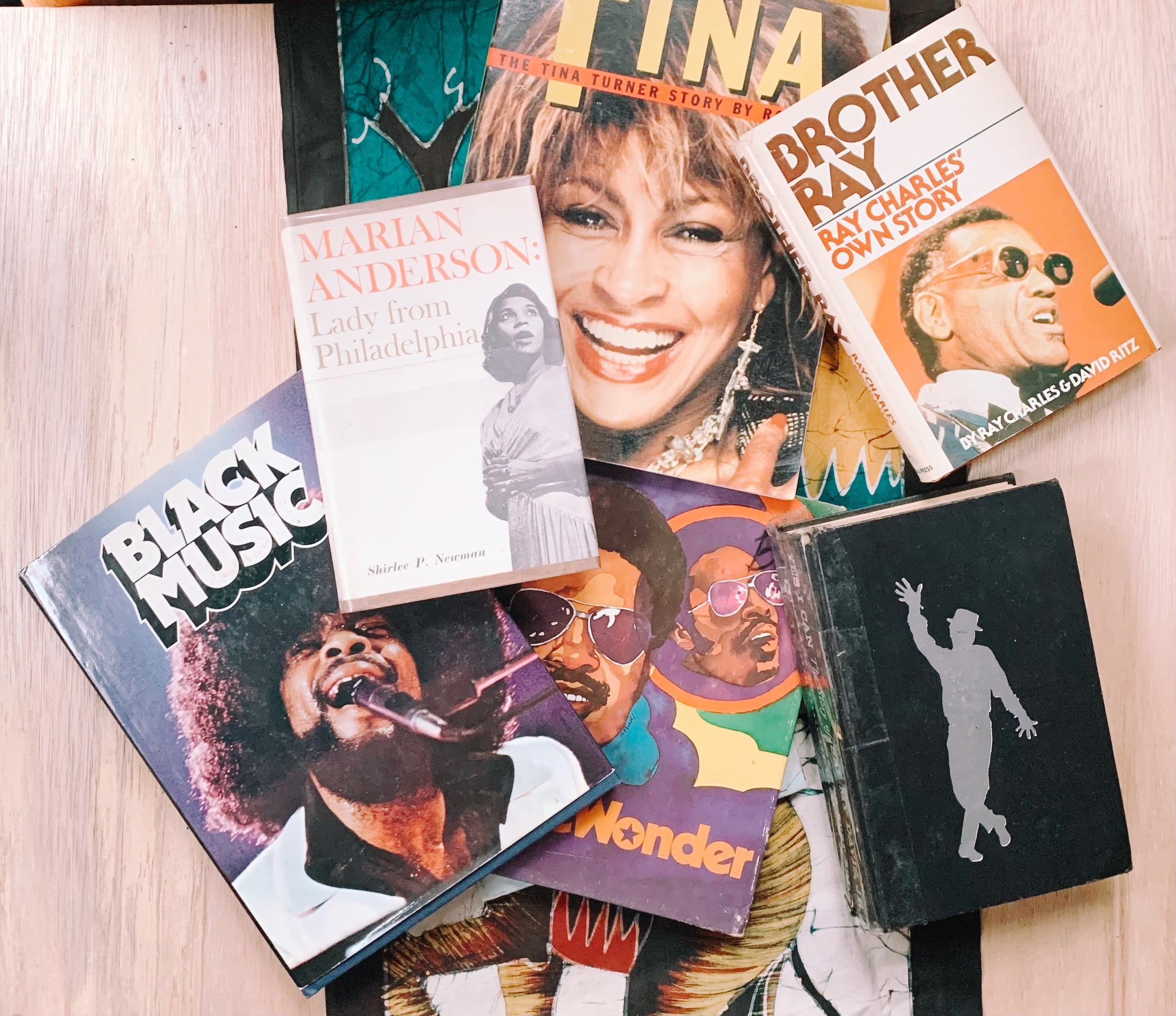 Vintage Assorted Music-Related Books // Stevie Wonder, Tina Turner, Ray Charles & more (Please Select)