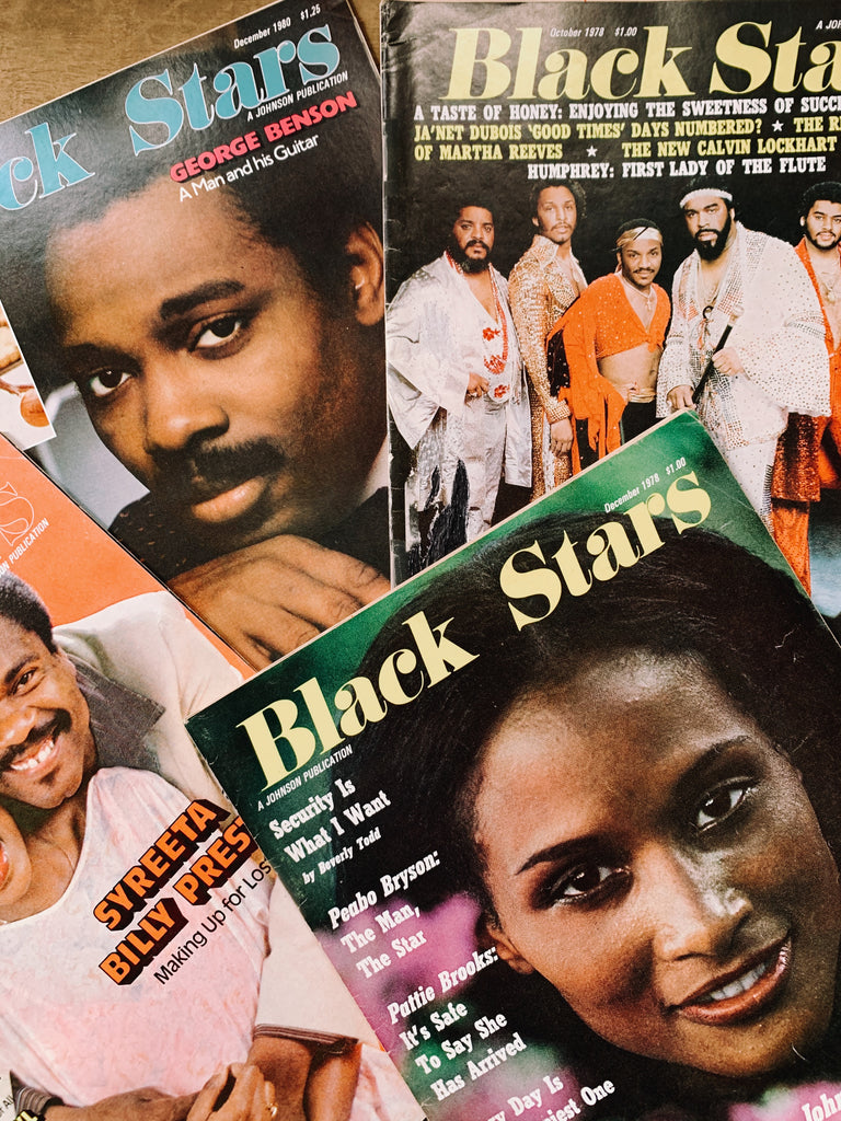 Vintage 1970's Black Stars Magazines (Please Select)