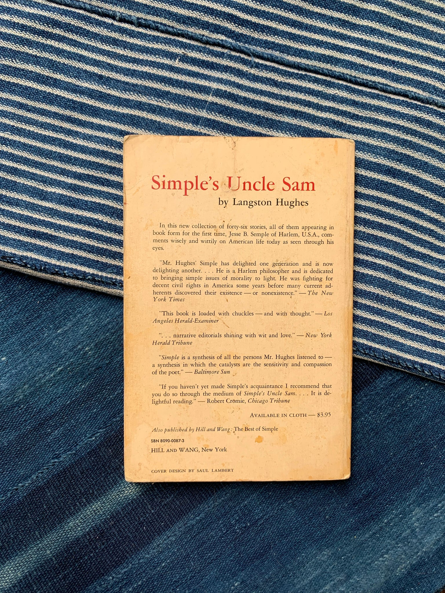 "Vintage Softcover ""Simple's Uncle Sam"" by Langston Hughes (1968)"