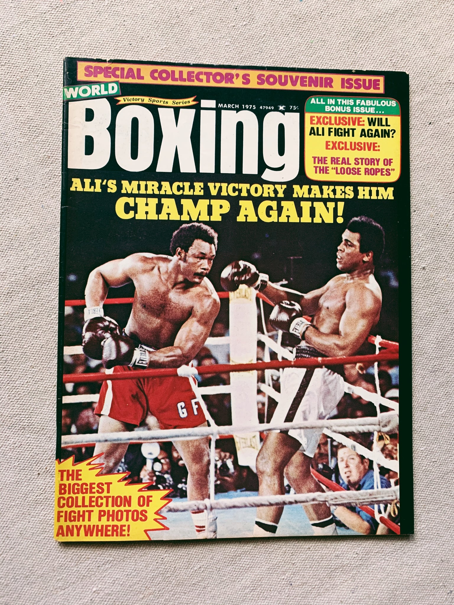 Vintage 1970's-80's Muhammad Ali Boxing Magazine Issue (Please Select)