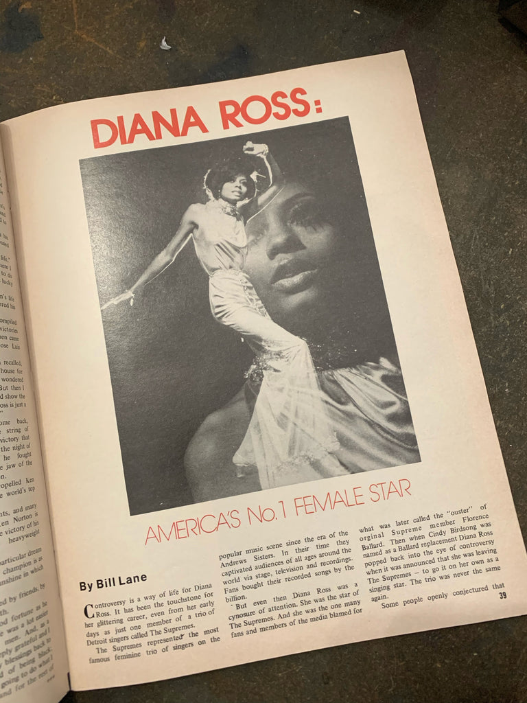 Vintage Diana Ross Sepia Magazine Issues (1979)