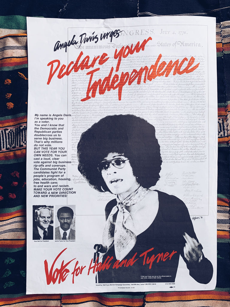 Vintage Angela Davis Communist Party Poster (1976)