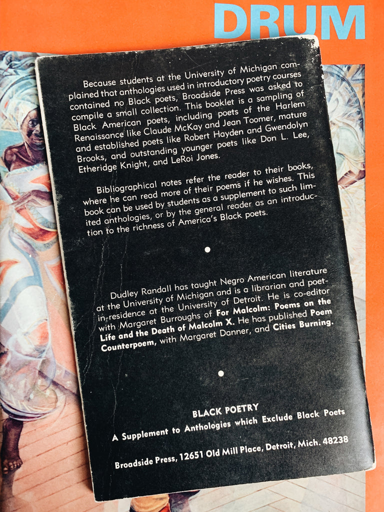 "Vintage Rare Softcover ""Black Poetry"" by Dudley Randall (First Edition, 1969)"