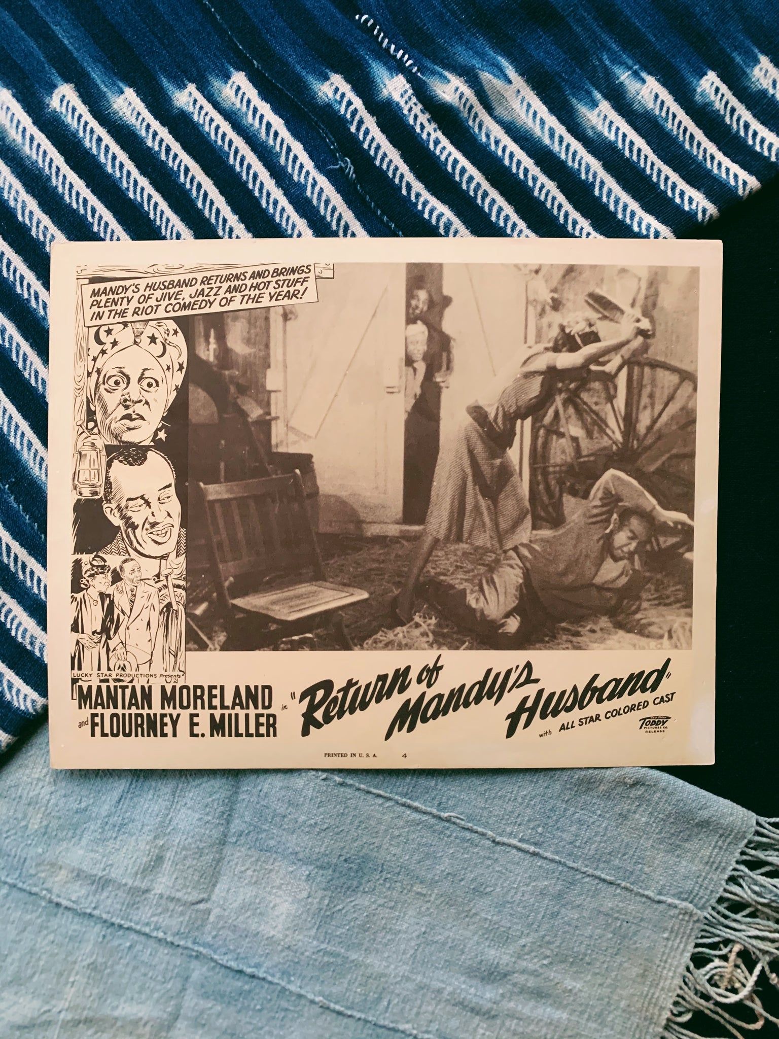 Vintage Cinema Lobby Card // Return of Mandy's Husband (Please Select)