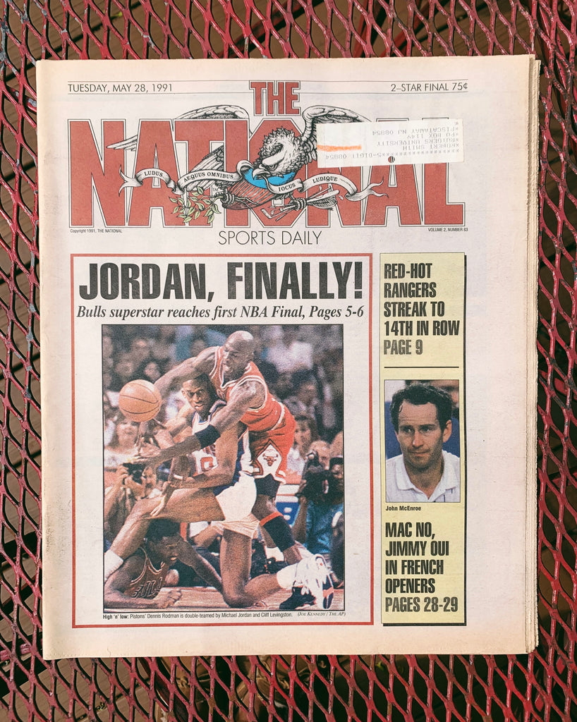 "Vintage ""The National"" Sports Newspaper// Chicago Bulls / Jordan Cover - 1990. (Please Select)"