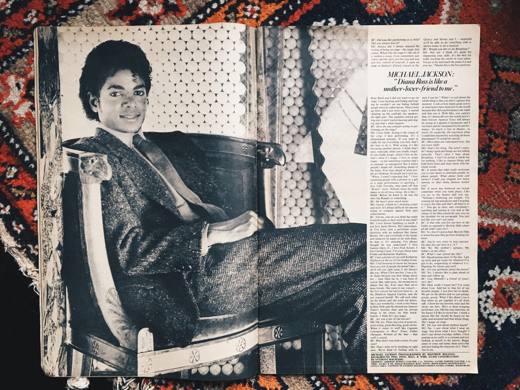 Vintage 1982 Interview Magazine // Michael Jackson Cover Story