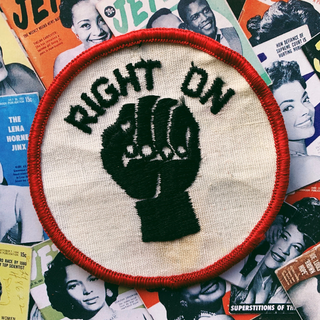 "Vintage ""Right On"" Original Patch (1970's)"