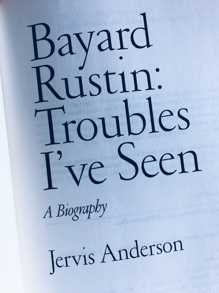 "Vintage Hardcover ""Bayard Rustin: Troubles I've Seen — A Biography"" (1997)"