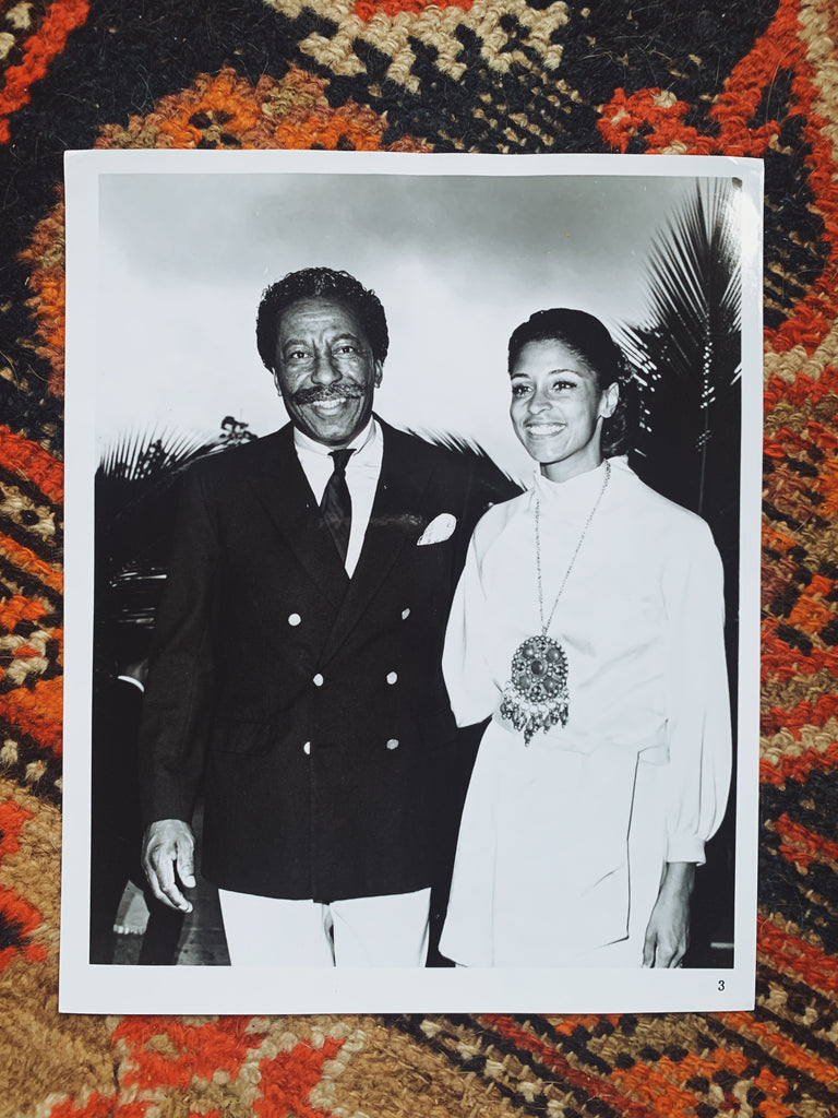 Vintage SIGNED Gordon Parks & Elizabeth Campbell Portrait + Card