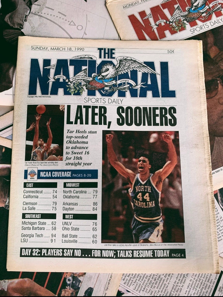 "Vintage ""The National"" Sports Newspaper// Rick Fox Cover - 1990 (No centerfold)"