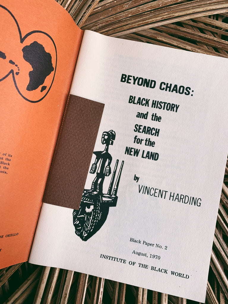 "Vintage ""Black Chaos: Black History and the Search for the New Land"" (1970)"
