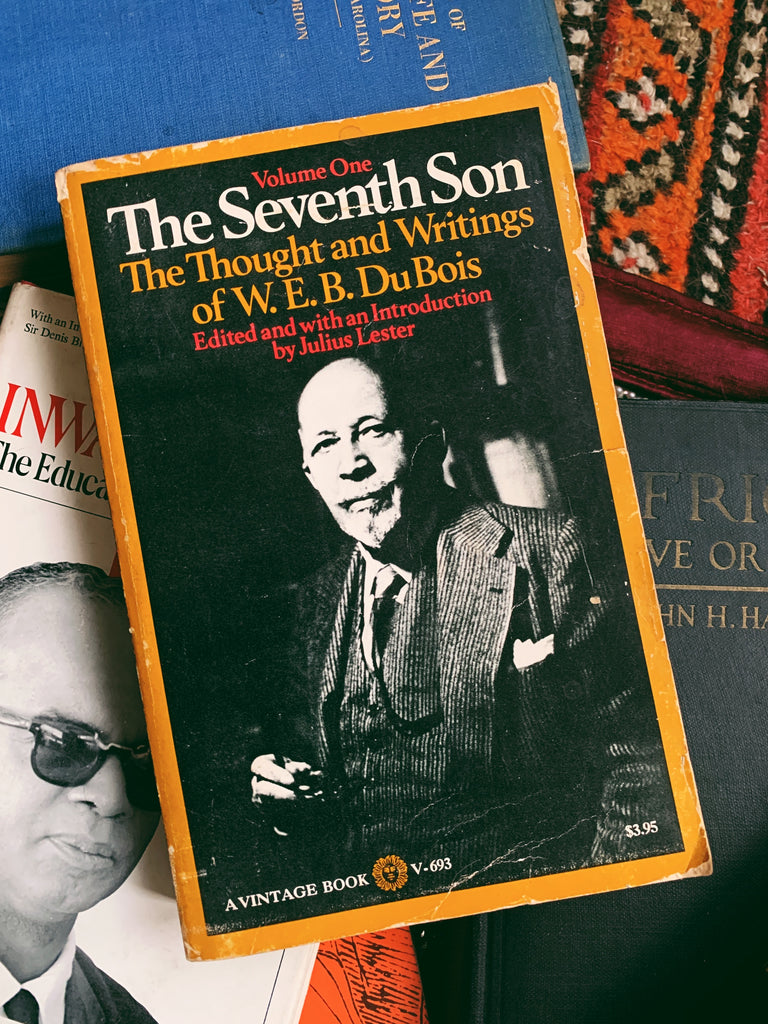 "Vintage Paperback ""Vol. 1: The Seventh Son: The Thoughts + Writings of W.E.B. DuBois"" by Julius Lester (1971)"