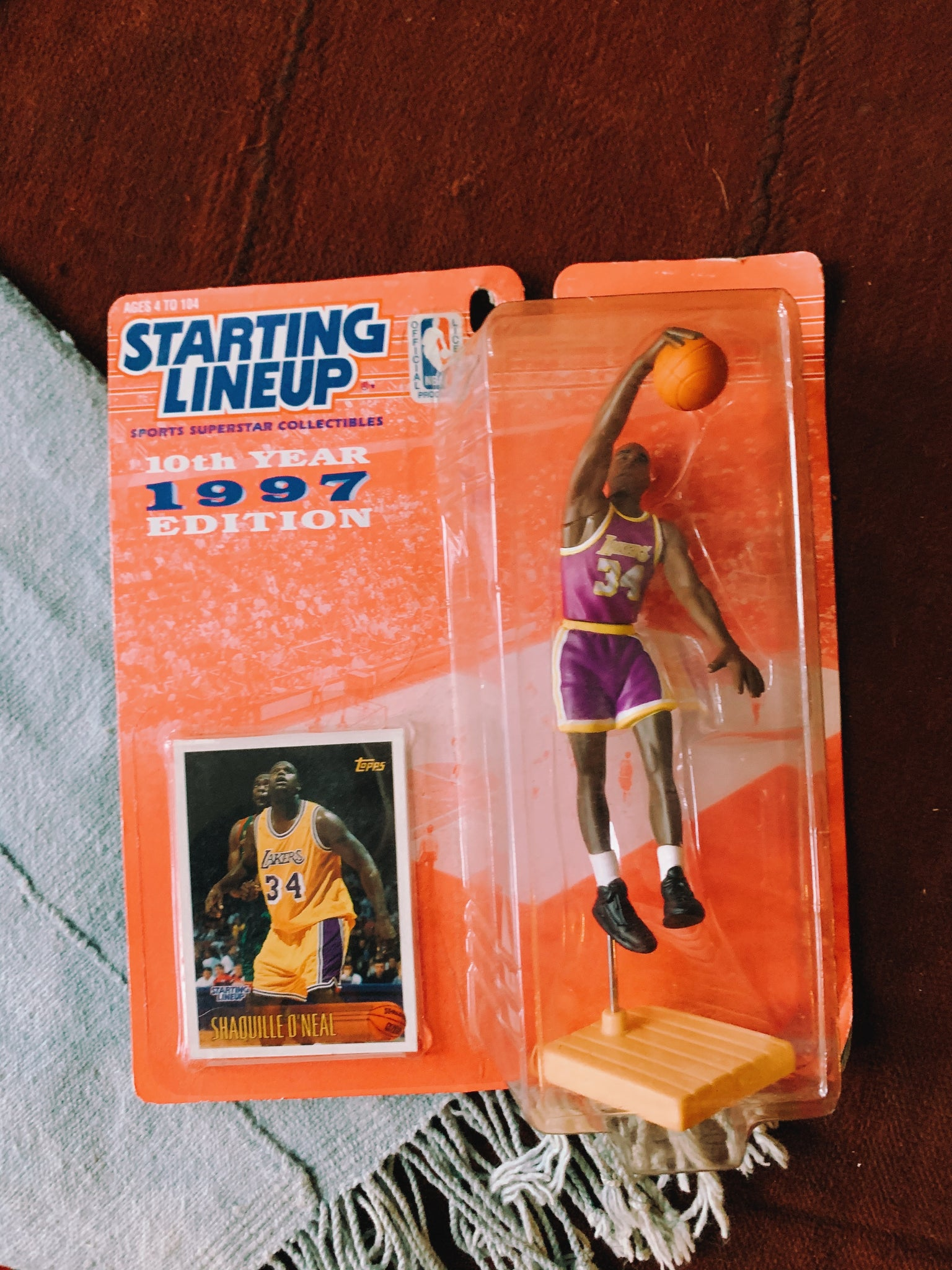 Vintage Starting Lineup Toys: Grant Hill, Shaq, Glen Rice  (1990's)