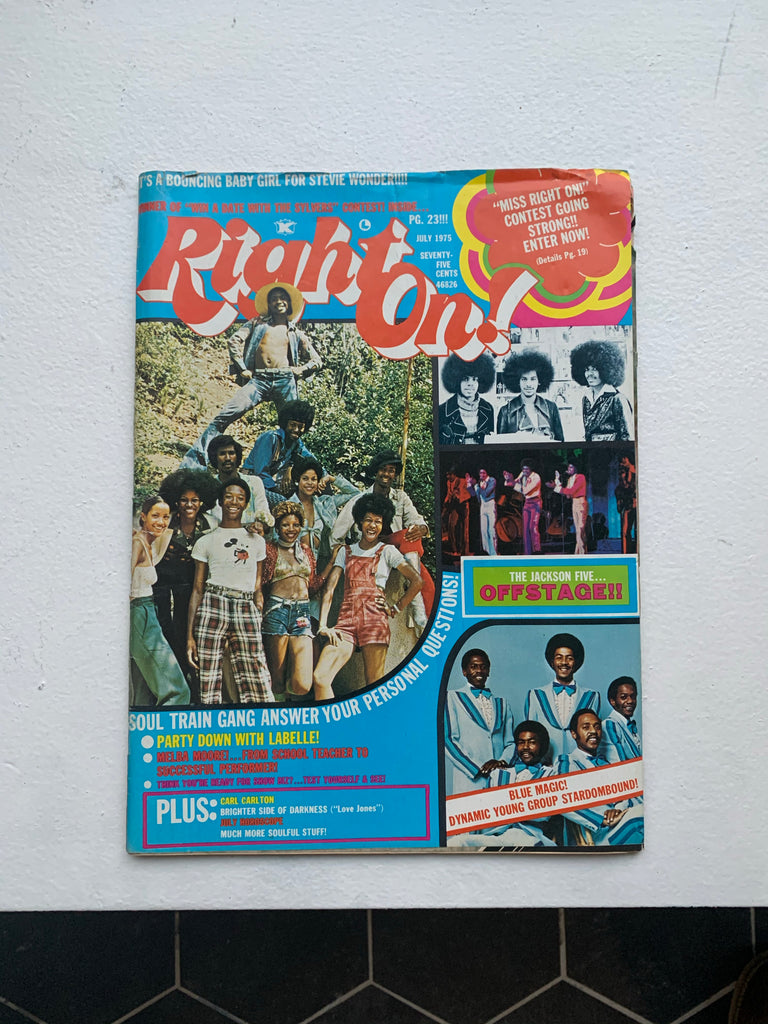 Vintage 1970's Right On! Magazine Issue (Select Issues)