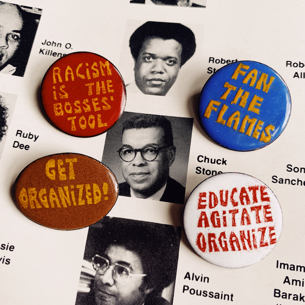 Vintage 1960's Enamel Protest Pins (Please Select)