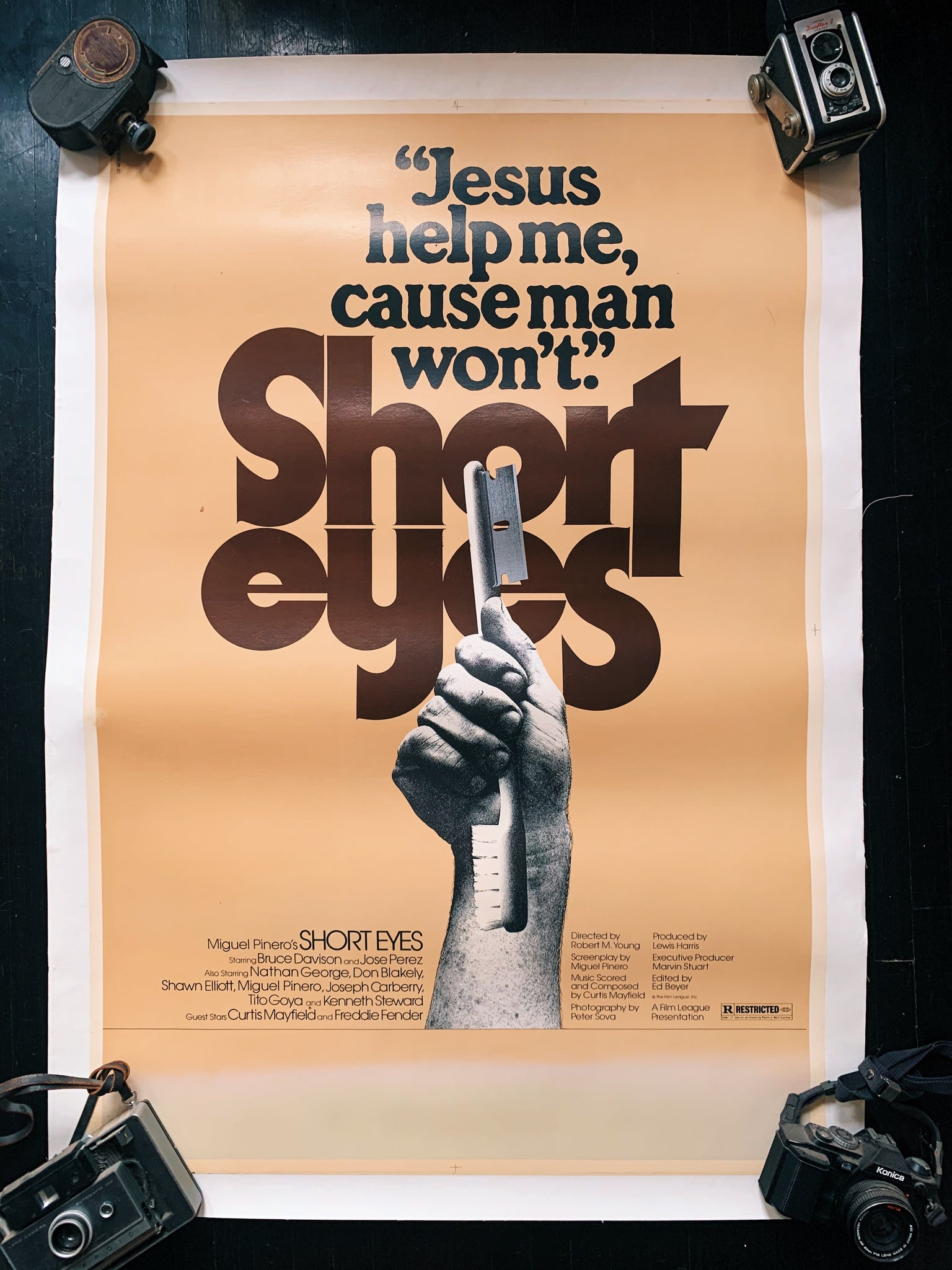 "Vintage ""Short Eyes"" Cinema Poster - Canvas Backed (1977)"