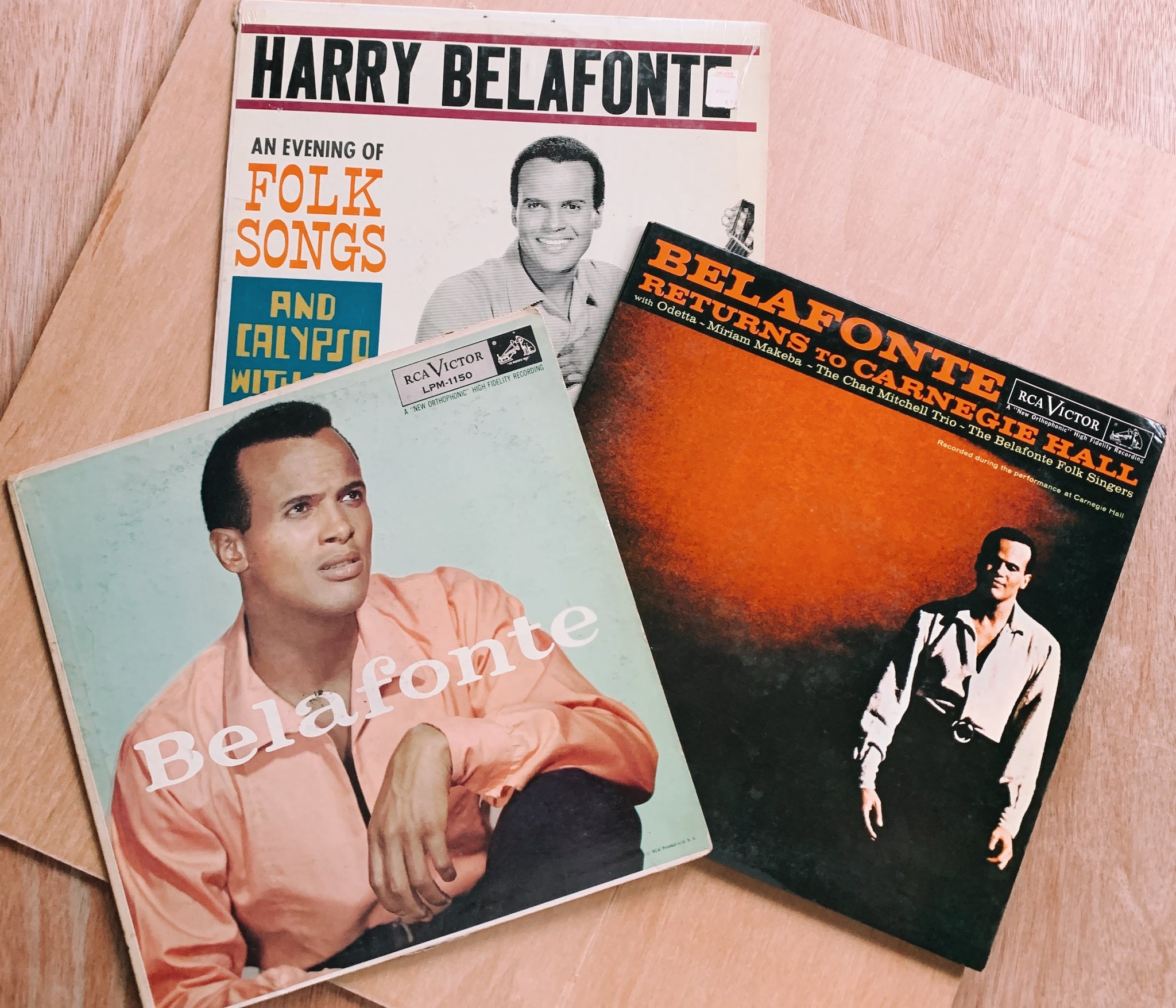 Vintage Classic Harry Belafonte Vinyl (Please Select)