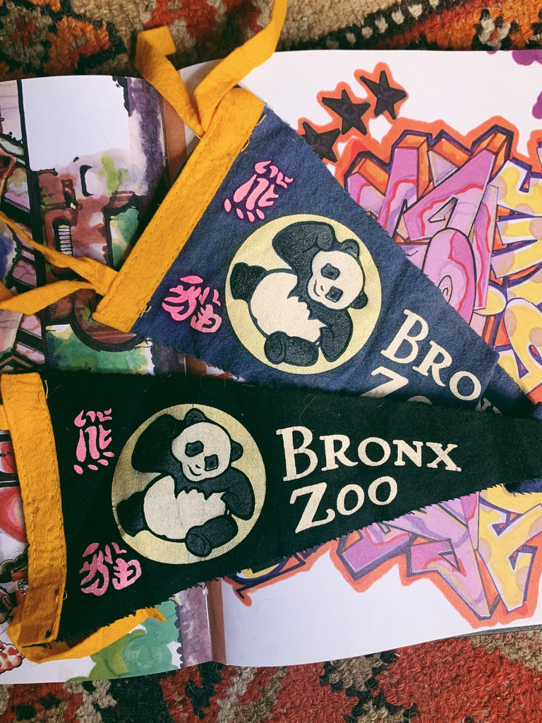 1990's Bronx Zoo Souvenir Mini Pennant (Please Select)