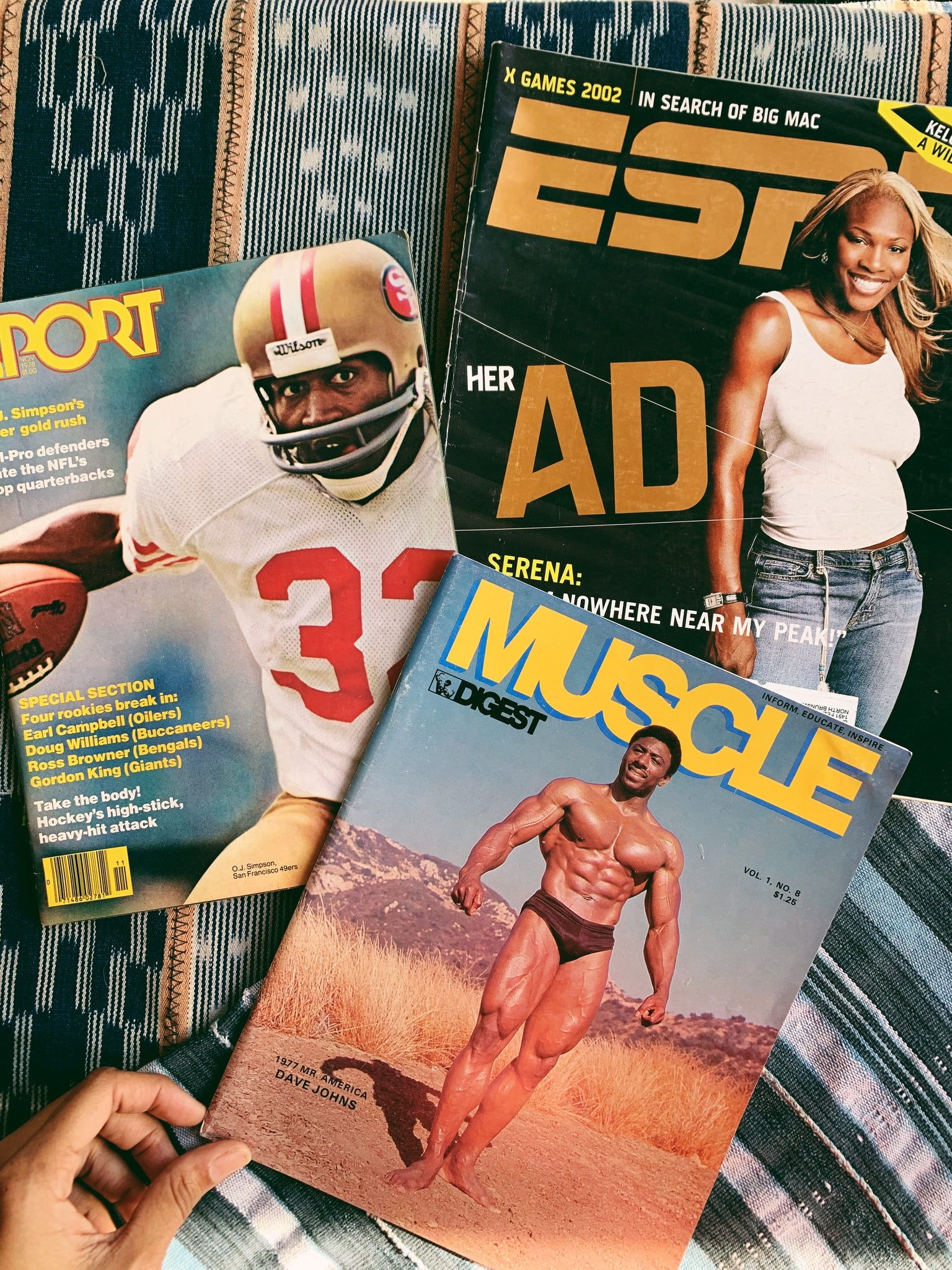 Vintage Assorted Sports Magazines; Serena Williams, OJ Simpson (Please select)