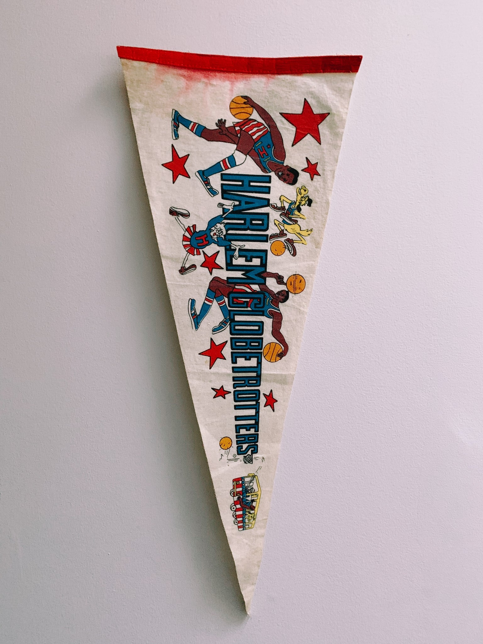Vintage 1970's-1980's Basketball Pennant  (Please Select)