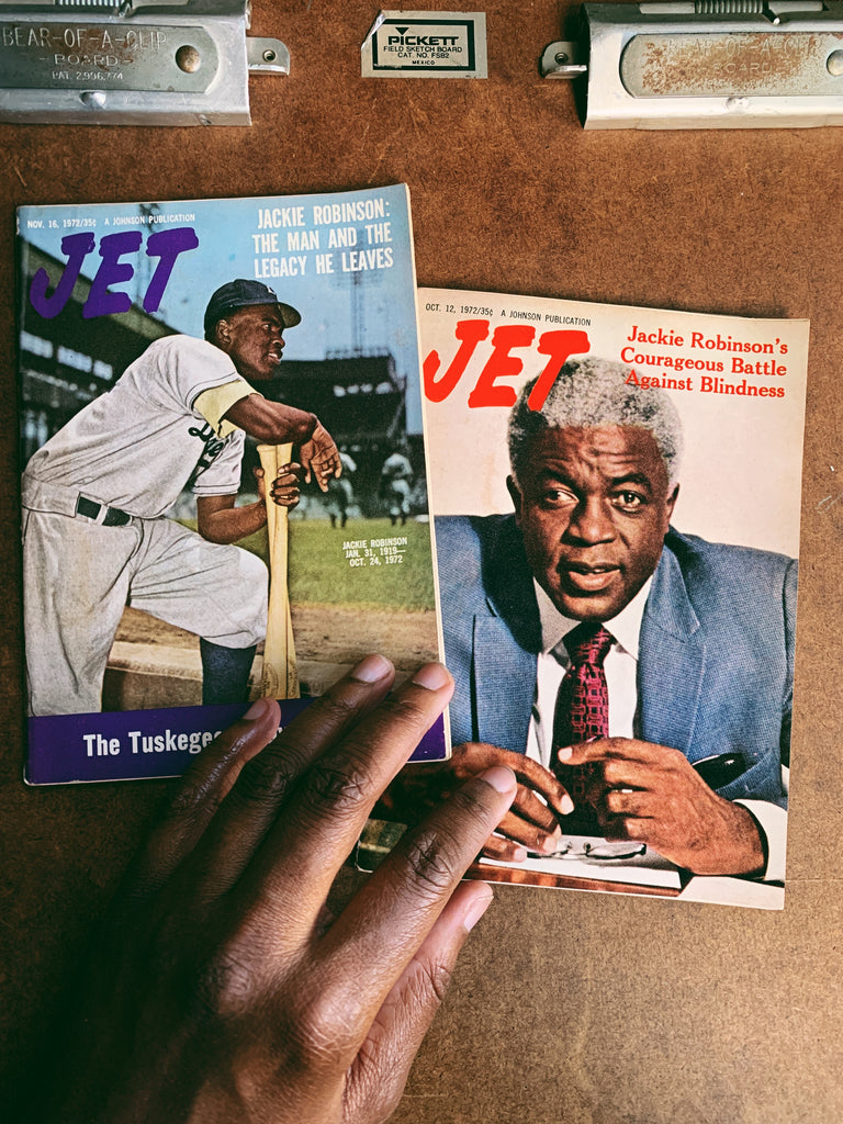 Vintage Jet Magazine // Jackie Robinson Covers (Please select)