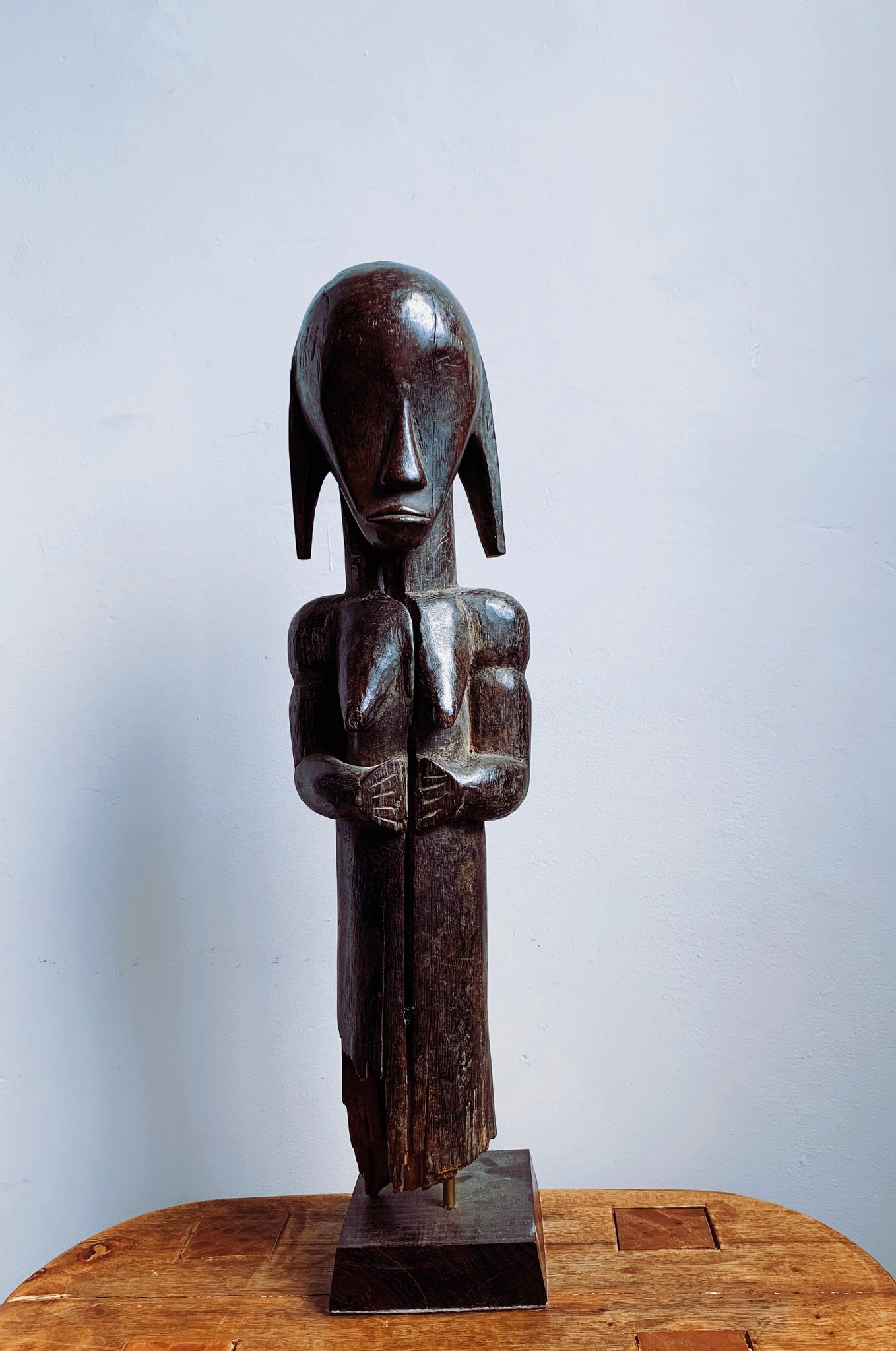 Vintage Rare Hand Carved Fang Guardian Figure (Ivory Coast)