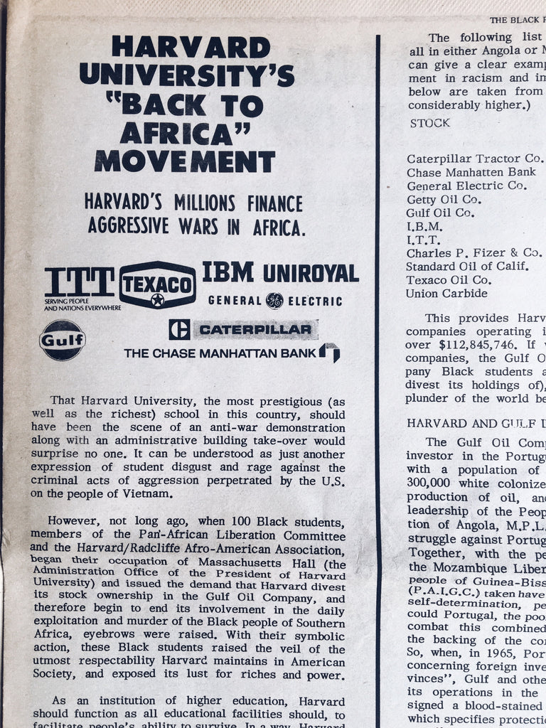 Original Black Panther Party Newspaper (1972)