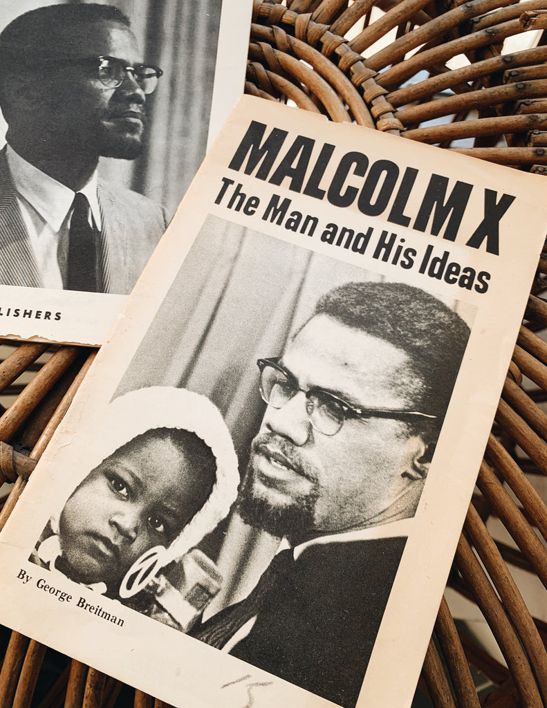 "Vintage ""Malcolm X: The Man & His Ideas"" by George Breitman Booklet (1965)"