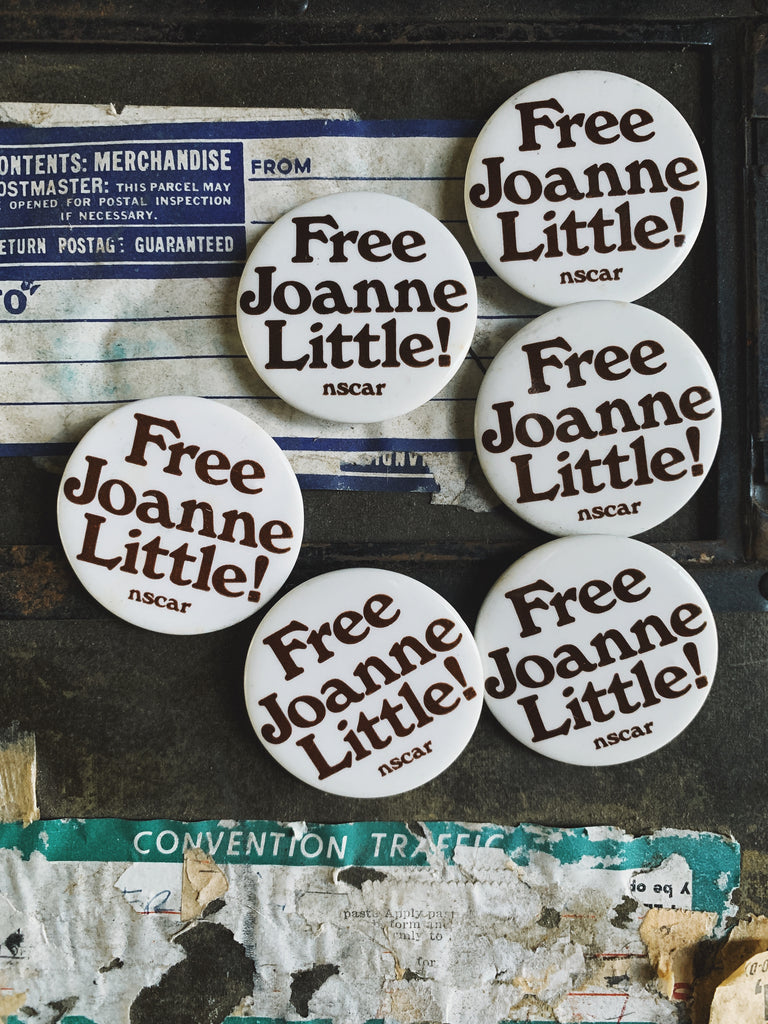 "Vintage ""Free Joanne Little"" Protest Pin (1975)"