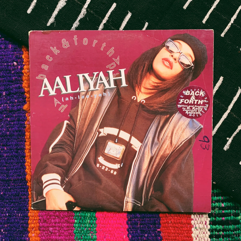 "Vinyl LP //  Aaliyah, ""Back & Forth"" Record"